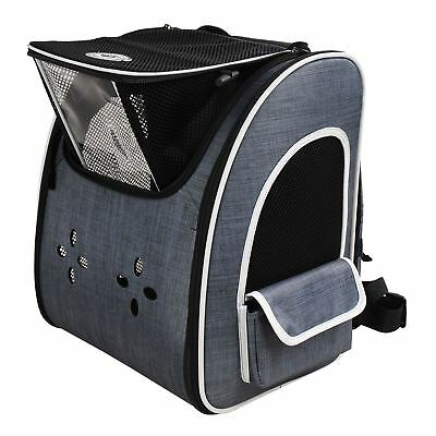 Blue Premium Pet Carrier Backpack Travel Shoulder Bag Cat Dog Pet Accessory