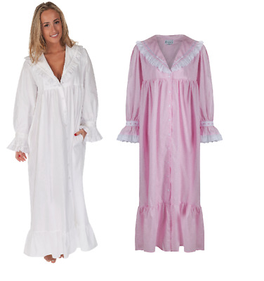 Nightdress 100% Cotton Womens Nightie 10 12 14 16 18 20 22 24 26  Amelia PW