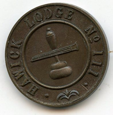 Lodge Hawick Number 111  Masonic  Penny  Token