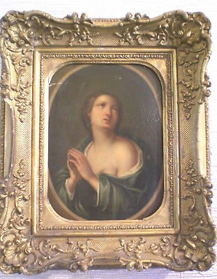 HOPE Oil Painting after Guido Reni in J.H. MILLER Frame 19th century