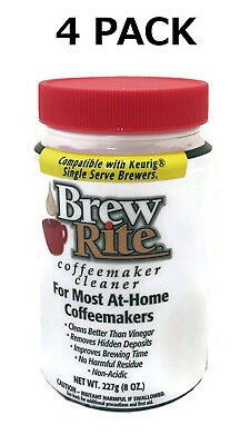 (4) Brew Rite Coffee Maker Cleaner for Espresso Machines and Drip Coffeemakers