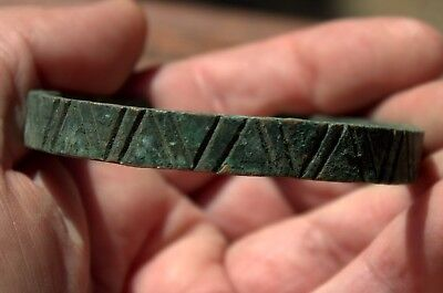 Circa 900 AD Authentic Viking Bronze Bracelet Found In Latvia Excavation #10