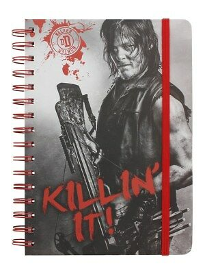 The Walking Dead Daryl Killin' It A5 Grey Notebook