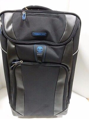 Timberland Luggage River Valley 21 Inch Rolling Expandable Upright, Black, One S