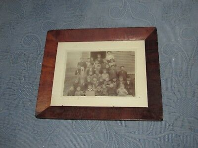 Antique Pre Victorian  Walnut Veneer Frame, Everettstown, NJ School Photo,1912