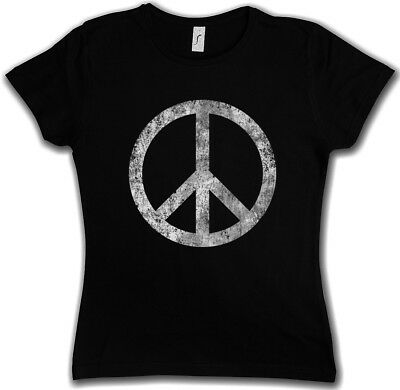 PEACE T-Shirt DAMEN frieden war 60s g8 future neon lila pink XS S M L XL XXL ♀