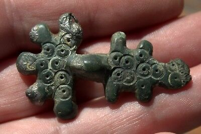 Stunning Authentic Ornate Very Detailed Bronze Viking Fibula Brooch Circa 900 AD