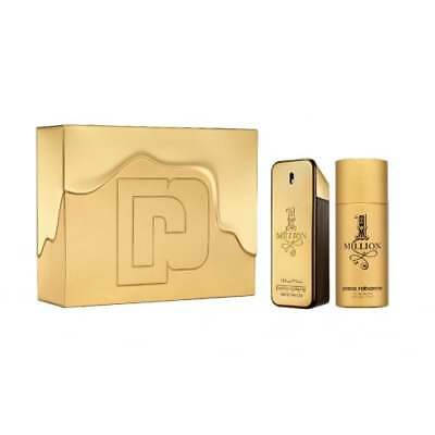 Paco Rabanne 1 Million - 100ml EDT Gift Set With 150ml Deodorant Spray.