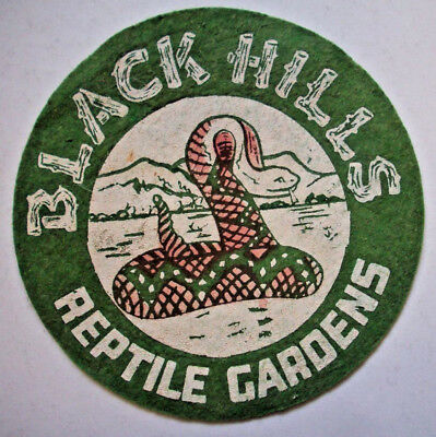 "Vintage 6"" Reptile Gardens Black Hills SD patch South Dakota Rattle Snake"