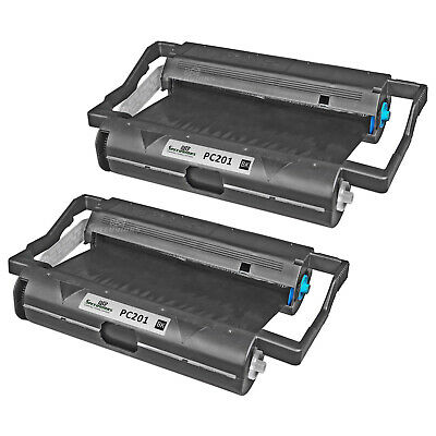 2PK Brother PC201 Compatible Fax Cartridge with Roll for Brother Intellifax 1170