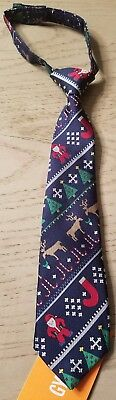 Gymboree HOLIDAY SHOP Christmas Santa Reindeer Tree 0-24 mos Tie NWT BOYS