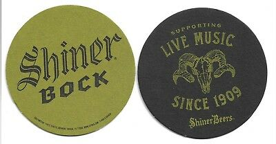 125 Shiner Bock Beer Coasters Supporting Live Music Since 1909 Full Sleeve NEW