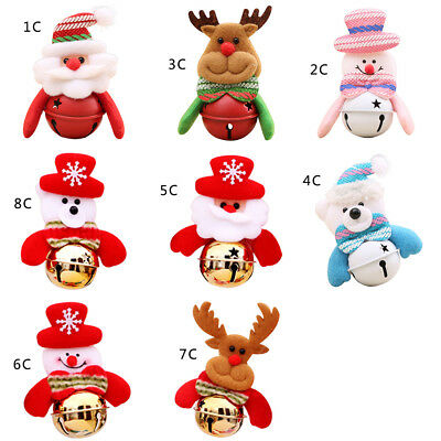 Cute Santa Claus Snowman Reindeer Bells Xmas Tree Hanging Party Christmas Decor
