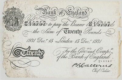 Great Britain 20 Pounds 1931 BERNHARD FORGERY, P.330x_F-
