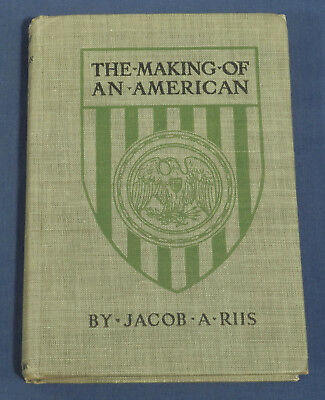 1920 The Making of an American by Jacob A. Riis Vintage Antique Pocket Book
