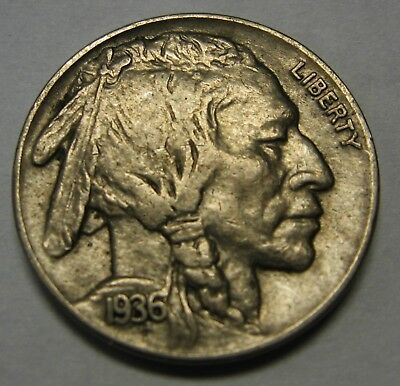 1936 Buffalo Nickel Grading in the XF Range Nice Original Coins DUTCH AUCTION