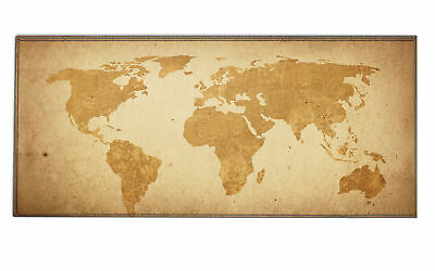Silent Monsters Gaming und Office Mauspad XXL (90 x 40 cm), Brown Global Map