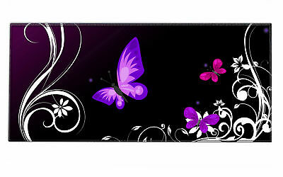 Silent Monsters Gaming /Office Mauspad XXL (90 x 40 cm) Design: Purple Butterfly