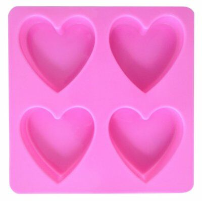 Uk Seller Pink Heart Soap Mould Silicone Maker Mold Bar  Candle Making Shape