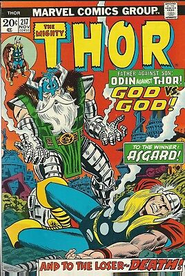 The Mighty Thor #217 (1973) John Buscema Marvel Comics Fn+
