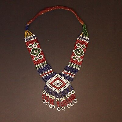 Belly Dance ATS Tribal Beaded NECKLACE Kuchi Afghani 811f3