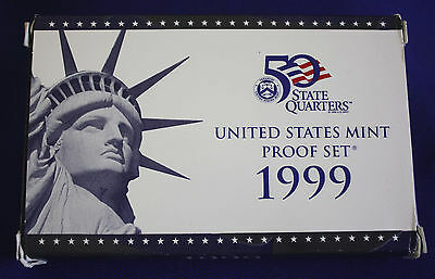 1999-s U.S. Proof Set. Complete and Original in BLUE  mint paper box.