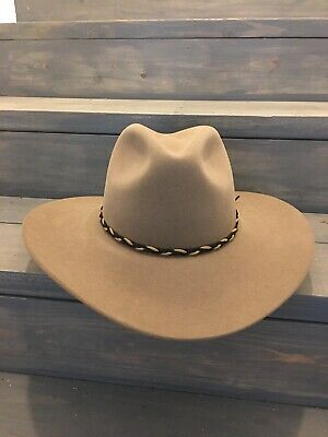 c46af85ab5f RODEO KING OPEN Crown Cowboy Hat- Pecan-5X- Size 6 7 8- 6 Match Band ...