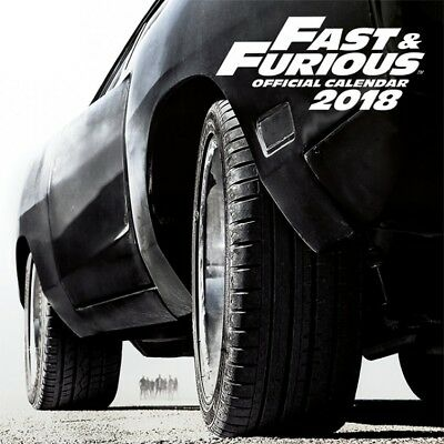 The Fast And The Furious - Poster Offizieller Kalender 2018 (30x30cm) #107749