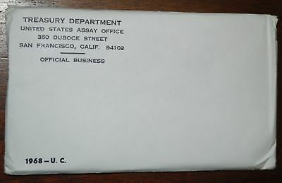 1968 U.S. MINT SET. ISSUED BY US MINT. Envelope Sealed / Unopened