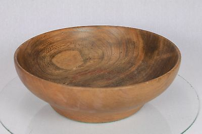 Vintage Turned Wood Wooden Bowl Fruit Dish Trinkets Lovely Grain Storage Pot