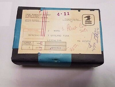 1974 Proof Sets Sealed / Unopened Box of 5 Complete as Shipped by US Mint