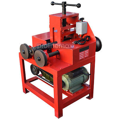 """Electric Tube Pipe Bender Roller Round-5/8-3"""" Square-5/8-2"""" 1400-RPM - 110 Volt"""