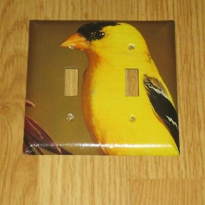 Classic Male American Goldfinch Bird  2 Hole Light Switch Cover Plate