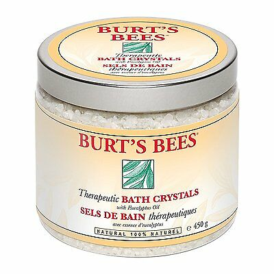 Burts Bees Therapeutic Bath Crystals salts Natural 450g Eucalyptus Oil  *BNWT*