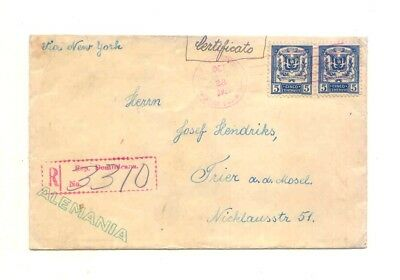 Dominican Rep. R.- Brief 1926 interess Rückseite Good cover to Trier Germany