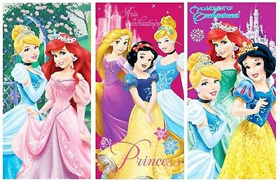 Beautiful Disney Princess Cinderella Ariel Girls Kids Swimming Beach Towel