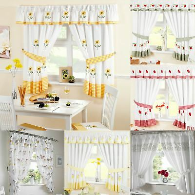 Kitchen Curtains, Ready Made Curtain Panels, Many Designs