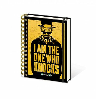 A5 Notizbuch BREAKING BAD - The One Who Knocks 15x21cm Liniert mit Gummiband NEU