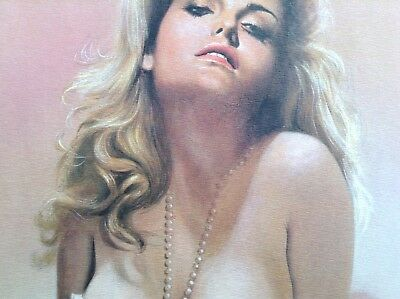 Michel Gourdon PRINT Limited Edition Pinup Rare Art Erotic Blonde Woman Nude Hot