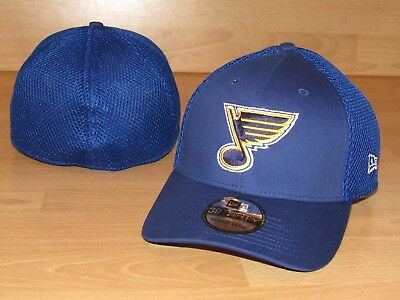 8c9d91fe202 ST. LOUIS BLUES New Era 39Thirty Neo Flex Fitted Hat Cap Men s Size ...