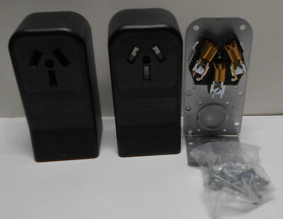 Lot of 4 Pass & Seymour 385CC6 50A 125/250V 3W Surface Mount Range Outlets