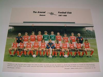 Arsenal Fc 1987-1988 Squad Original Press Or Club Issued Photograph