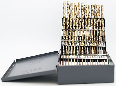 Numbered Cobalt Stubby Length  60pc Drill Set 135° Point USA RMT #95090878