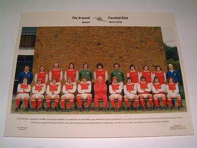 Arsenal Fc 1975-1976 Squad Original Press Or Club Issued Photograph
