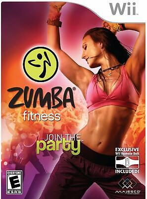 Zumba Fitness JOIN THE PARTY WII! DANCE, WORKOUT, CARDIO, LATIN SALSA, JUST FUN!