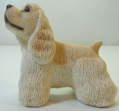 Vintage Stone Critters Blonde Cocker Spaniel Dog Small Figure Signed Andre