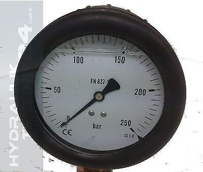Hydraulic Manometer Glycerin Stainless Steel Eco-Line 0 Bis +1000 Bar with