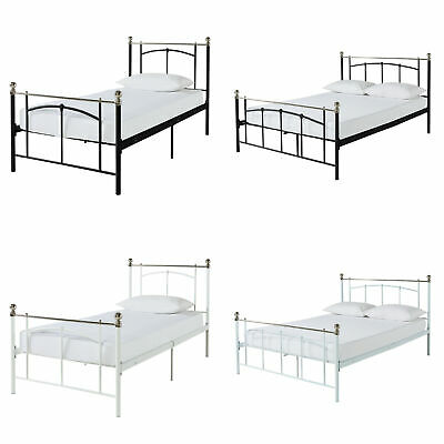 Argos Home Yani Metal Bed Frame - White / Black and Single / Double / King