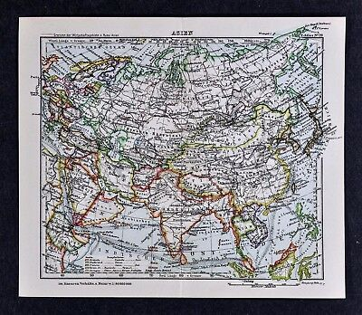 Rare original 1809 antique world map asia china tibet nepal india c1925 taschen atlas map asia china japan india nepal tibet korea siberia vietnam gumiabroncs Image collections