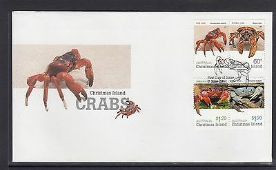 CHRISTMAS Island 2011 CRABS Wildlife design set of 4 on FDC - Marine Life.